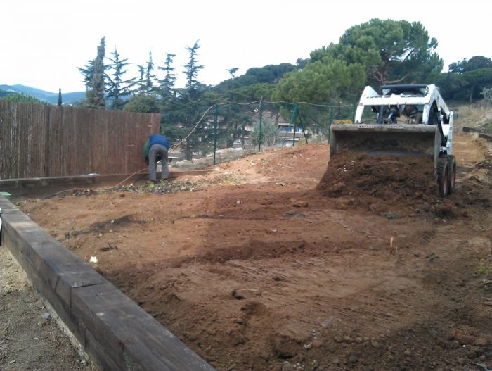 construcción de un jardín