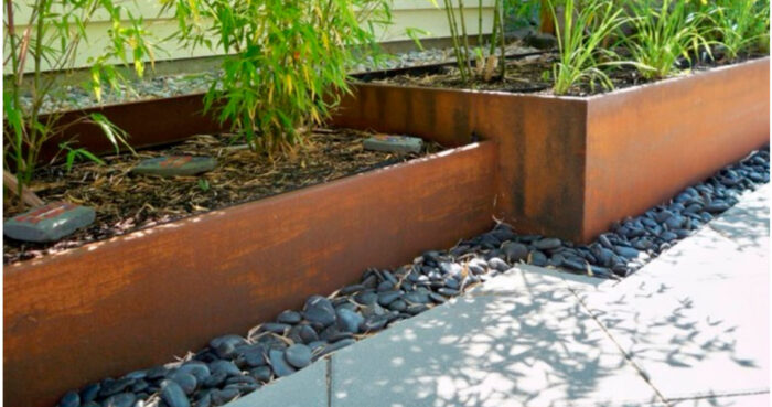 jardinera acero corten