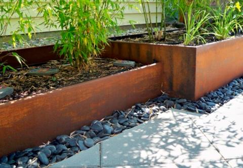 jardineras acero corten